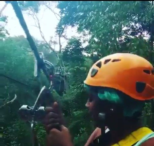 Here's the #CombatQueen indulging in some ziplining! Adventure at it's very best! Click to view the video.