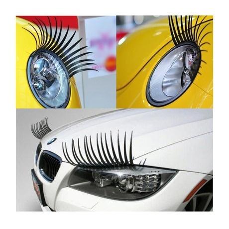 Car eyelashes. Pestañas para coches.
