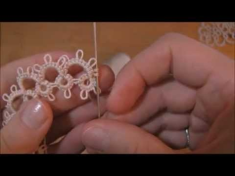 "Learn how to reverse your work (RW.)  in needle tatting, with ease. Katy will show you how, step by step! Katy is a professional tatting instructor with over ten years of experience, she has taught across the country from Georgia to Alaska. And she firmly believes that if she can tat, so can you! Also check out RustiKate links, in the ""About Rus..."