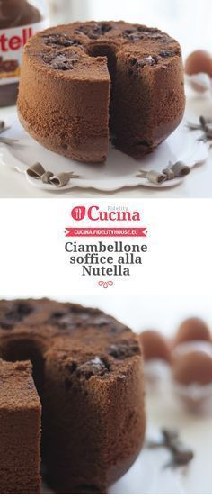 Ciambellone soffice alla Nutella della nostra utente Chiara. Unisciti alla nostra Community ed invia le tue ricette!