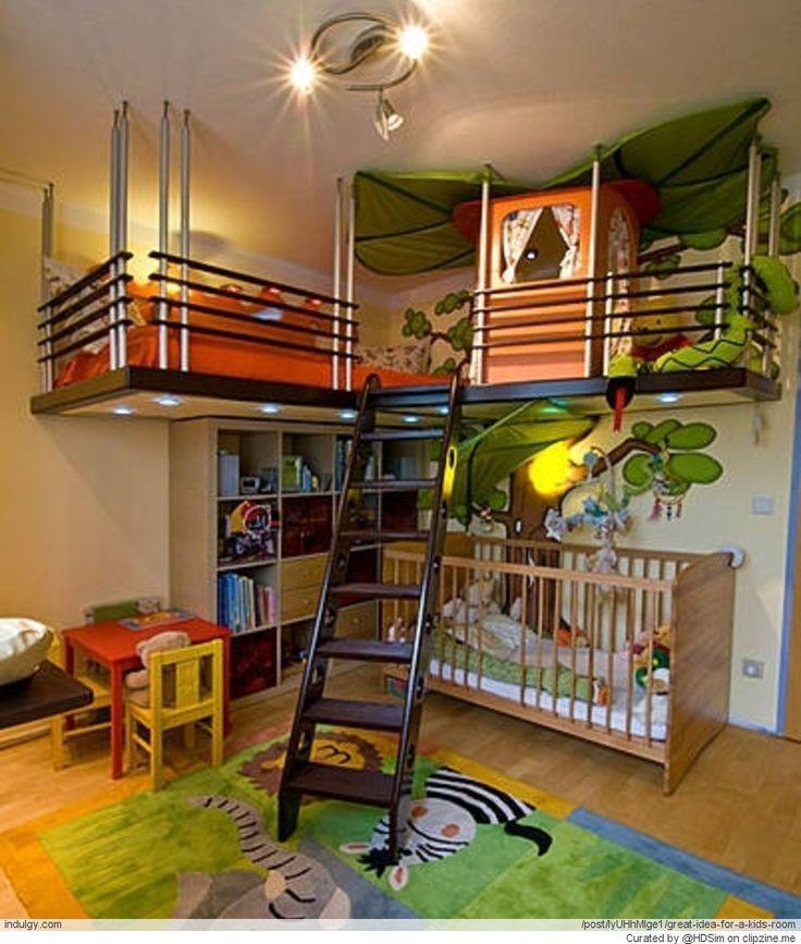 Les 25 meilleures id es concernant lits superpos s trois couchages sur pinterest triple for Pinterest chambre enfant verriere
