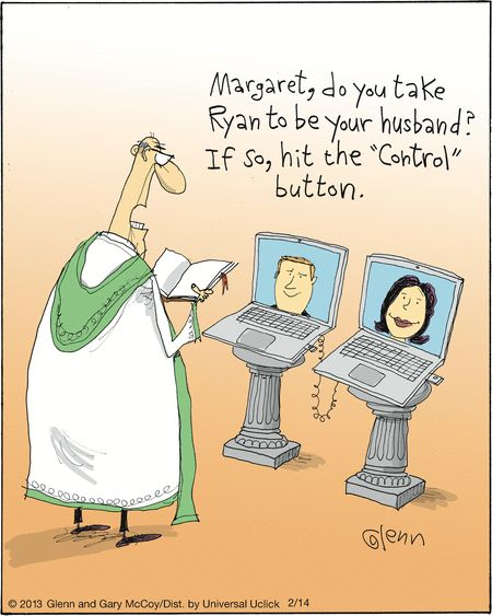 Marriage by G+ Hangout  #socialmedia #technology #humor