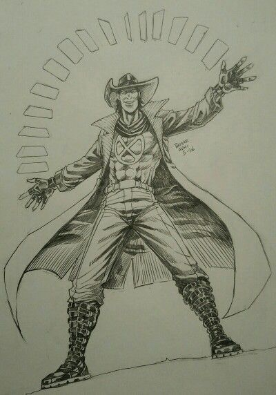 My version of Gambit #marvel #fanart #pencill #Gambit
