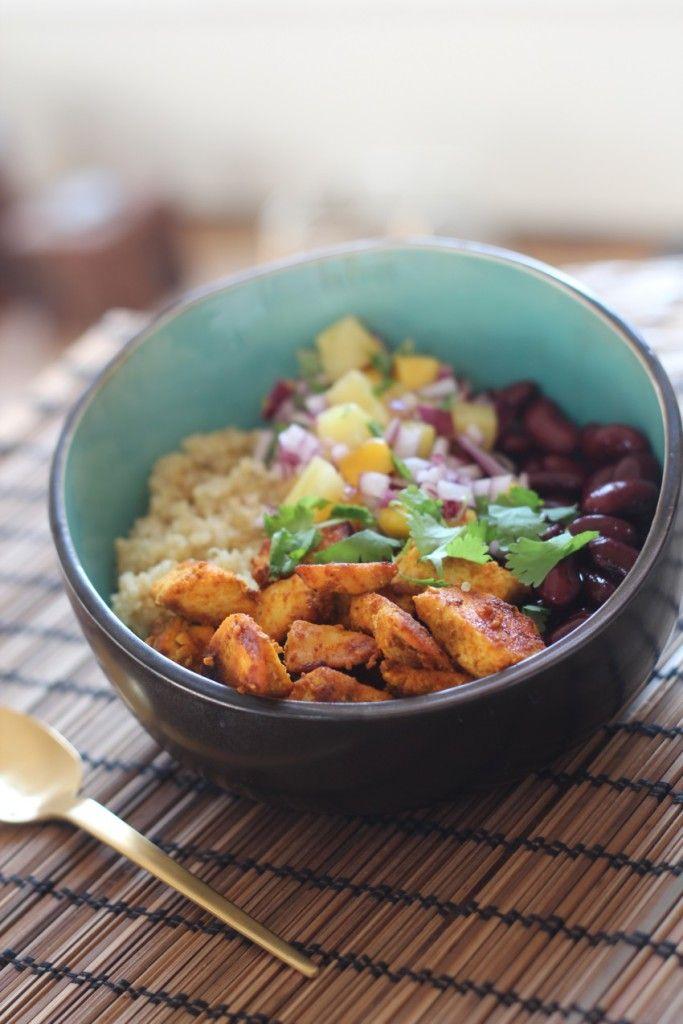 Recept: Quinoa Bowl met Kip en Bonen