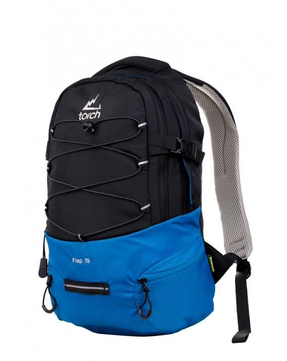 BACKPACK FLAP 19 BLACK-BLUE