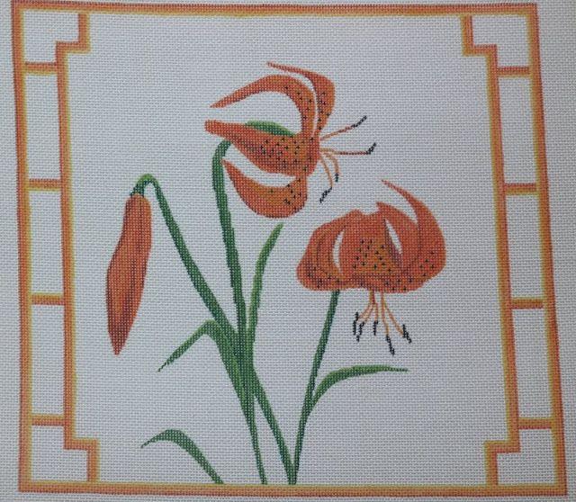 Tiger Lilies  14 x 13, 13 mesh
