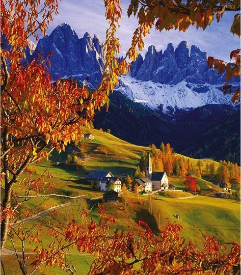 Dolomites in autumn, Predazzo, Sud Tirol #Italy   Discover travel tips -> www.gadders.eu/destination/place/Predazzo