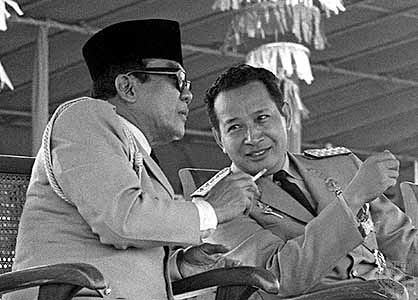 Soekarno and Soeharto, Indonesia's first and second president