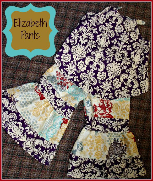 Free sewing tutorial for tiered girl's pants.