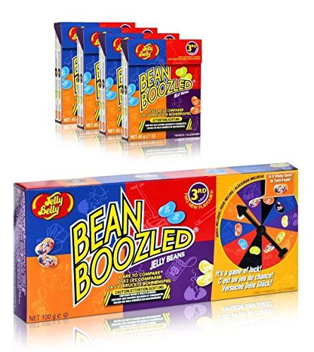 Jelly Belly Bean Boozled Spinner and Refill Boxes, 10 Ounce Bamboozle the kids, family, friends, or just about anyone, with the jelly belly bamboozled gift box that's a game and a candy all in one. Take the dare with the spinner wheel, then pick the jelly bean in the color the spinner lands on #Chocolates #Gifts #Candy