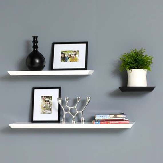 White Floating Wall Shelf best 10+ floating wall shelves ideas on pinterest | tv shelving