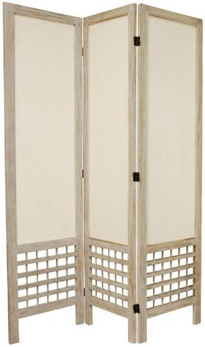 6 Ft Tall Solid Frame Fabric Room Divider 4 Panels: Oriental Furniture High Quality Room Divider, 5.5-Feet