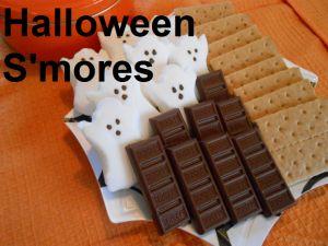 Create Halloween S'mores. #smore #grahamcracker #chocolate #marshmallow #kids #children #preschool #prek #kindergarten #dessert #party #food #halloween #ghost #home
