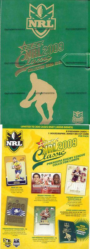 Rugby League NRL Cards 25583: 2009 Nrl Select Classic Album Pages, And Set -> BUY IT NOW ONLY: $49.99 on eBay!