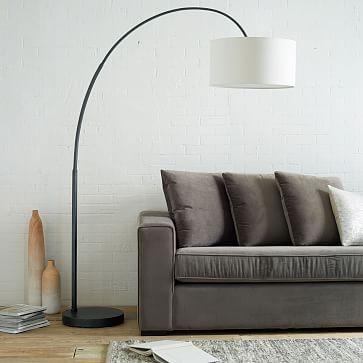 Overarching Floor Lamp - living room Antique Bronze #westelm