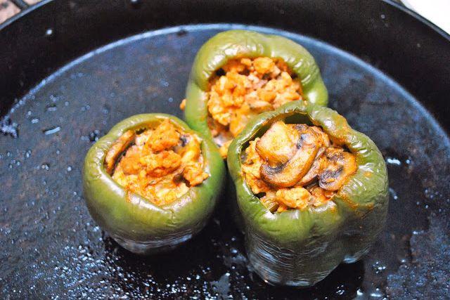 Buffalo Chicken Stuffed Bell Peppers | Food | Pinterest