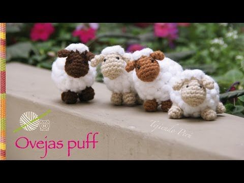 Ovejas puff (como pomponcitos :) tejidas a crochet. amigurumi!, My Crafts and DIY Projects                                                                                                                                                                                 Más