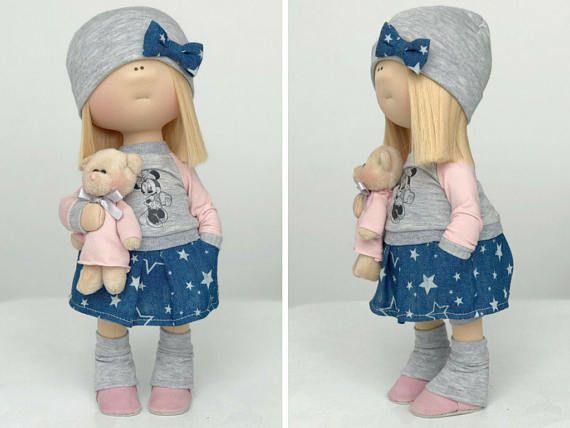 Cloth doll Tilda doll Art doll Stoffpuppe Poupée Handmade doll