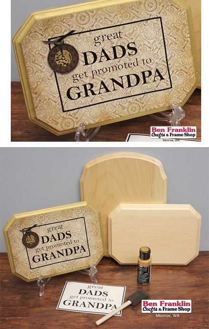 Here's an easy DIY project that would show your appreciation and would make a great Father's Day gift!