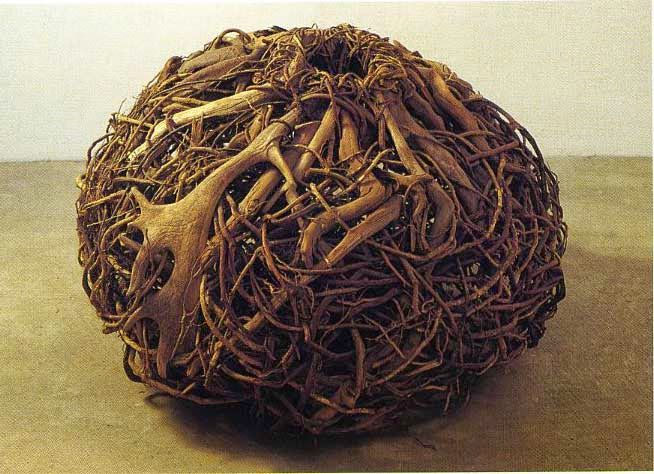 Contemporary Basketry: Gathered Materials, Basket for the Deer, Chris Drury