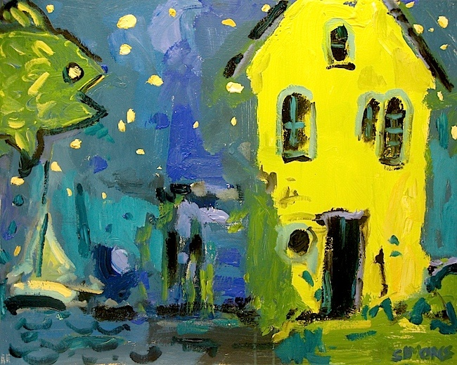 "STARFISH YELLOW HOUSE 24x30"" a/c"