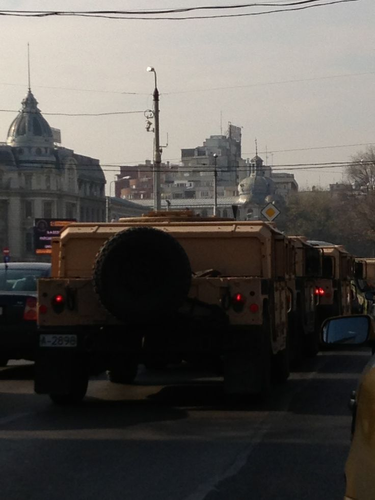 #army in center of bucharest