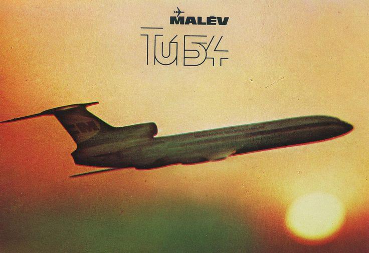 Malev Hungarian Airlines Tupolev Tu-154-B2 postcard