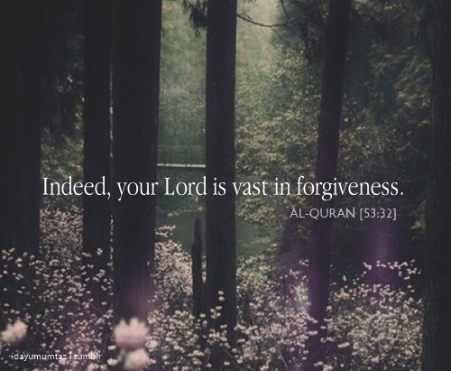 Quran 53:32, forgiveness, mercy, God
