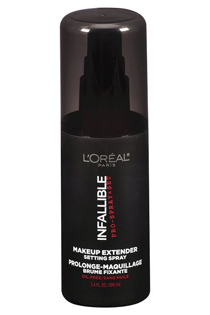"""It's amazing for hot, humid weather and particularly useful for oilier skins. It also helps powder settle into the skin, making your makeup look more natural."" L'Oreal Paris Makeup Extender Setting Spray, $13.99, available at Target."
