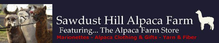 Sawdust Hill Alpaca Farm, Poulsbo, WA  Alpacas for Sale and Breeding | Alpaca Clothing | Unique Gifts | Marionettes | Alpaca Fiber | Yarn & Roving