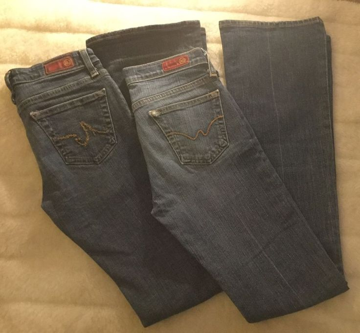 2 Pair AG ADRIANO GOLDSCHMIED Blue The Angel Boot Cut Jeans  Lot Size 26 #AGAdrianoGoldschmied #BootCut #ebay #sale #buyitnow #AGjeans #adrianogoldschmied #restylerefresh