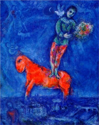 cheval, acrobate et colombe - Marc Chagall