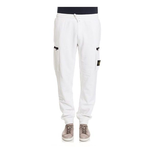 Stone Island Comfortable Cotton Pants ($134) ❤ liked on Polyvore featuring men's fashion, men's clothing, men's pants, men's casual pants, white, mens white cargo pants, mens white cotton pants, mens cotton pants, mens white pants and mens cargo pants