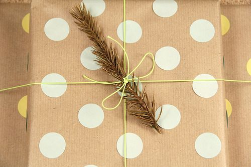 Kraft paper and circle punch + branch