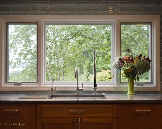 Windows Over Kitchen Sink Kitchen Ideas Pinterest