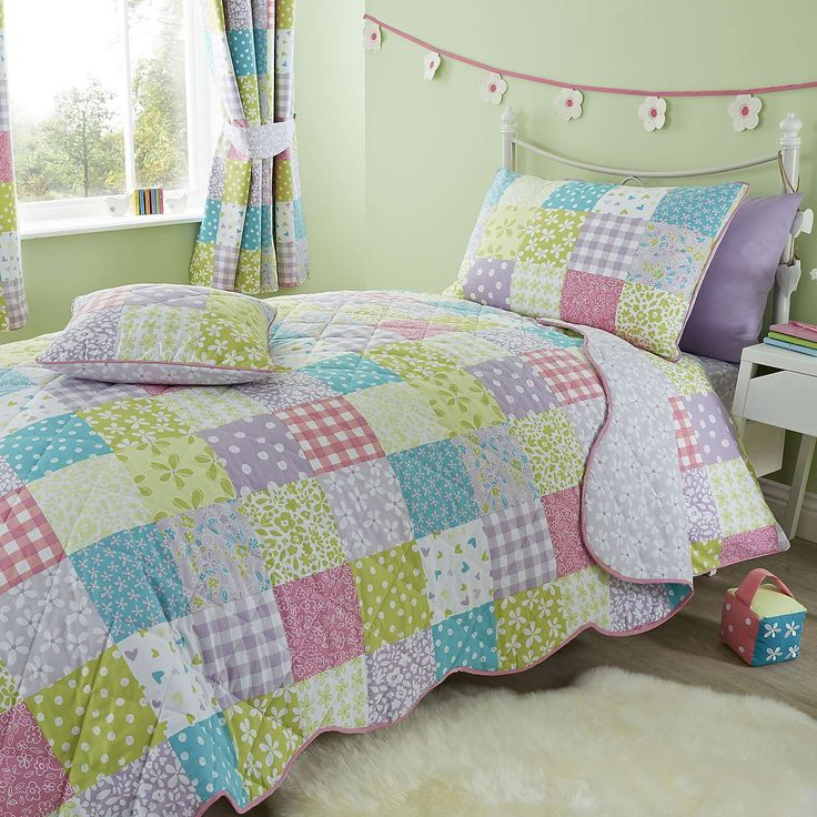 Kids ditsy patchwork bed linen collection girls bedroomgirl