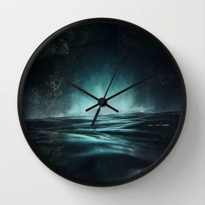 Surreal Sea Wall Clock #waterscape #ocean #art #surreal #sea #waves #wallclock #clock