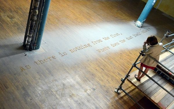 Spine-Chilling Typography Made With Residual Dust From 9/11 Aftermath - artist Xu Bing