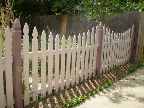 Decorative wood fences harrison fence fences gates pinterest wood fences yards and - Decorative wooden fences ...