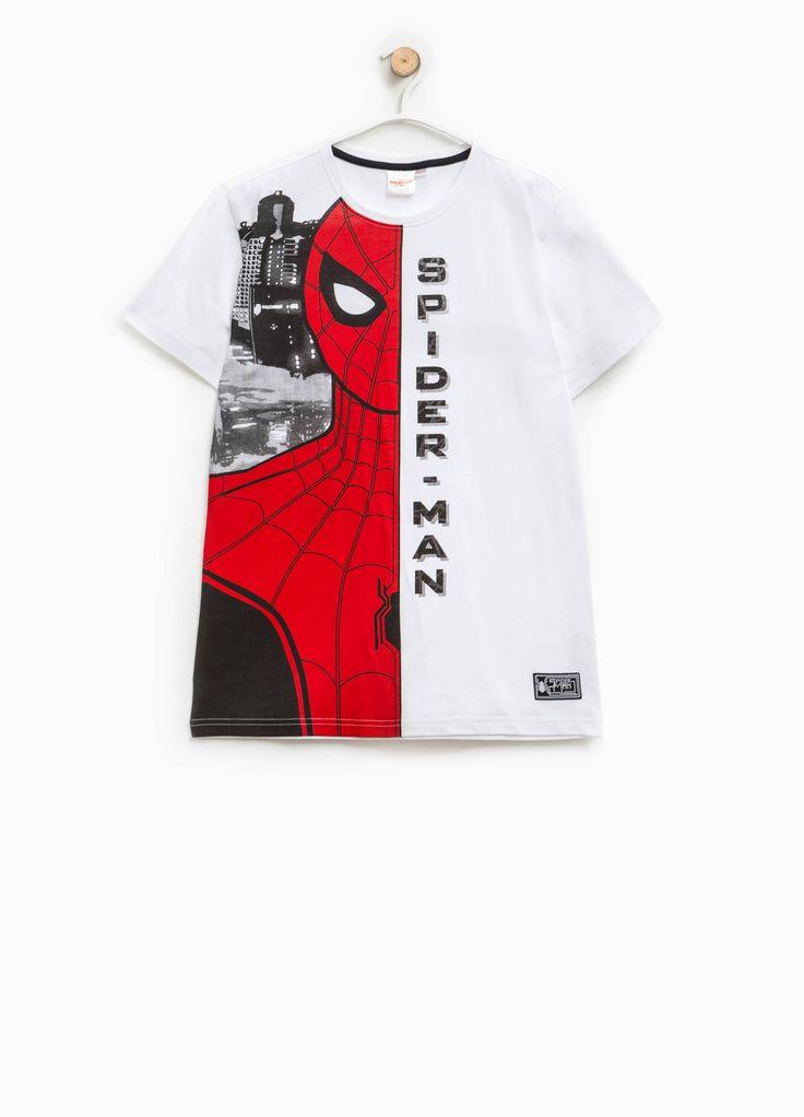 Compra online Camiseta de algodón con estampado grande de Spiderman en OVSFASHION.COM. Descubre las mejores ofertas en la categoría undefined de la colección 2017.