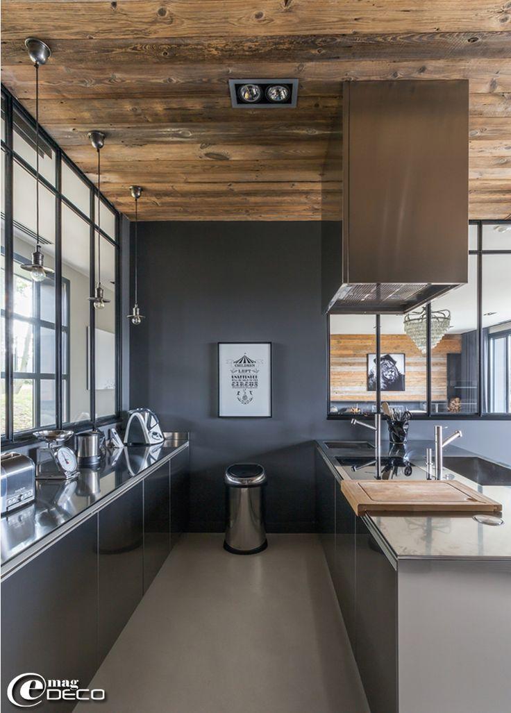 les 25 meilleures id es concernant cuisine inox sur pinterest inox evier cuisine inox et. Black Bedroom Furniture Sets. Home Design Ideas
