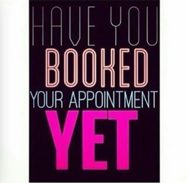 please make sure you have your Christmas hair appointments booked as spaces are limited . If you cannot make your appointment please contact the salon with good notice