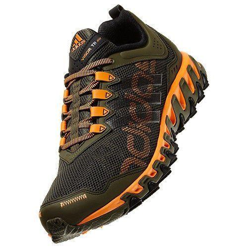 New Adidas Mens Vigor 4 Trail Running Shoes Outdoor TR Earth Green Orange Black | eBay #trailrunningshoes