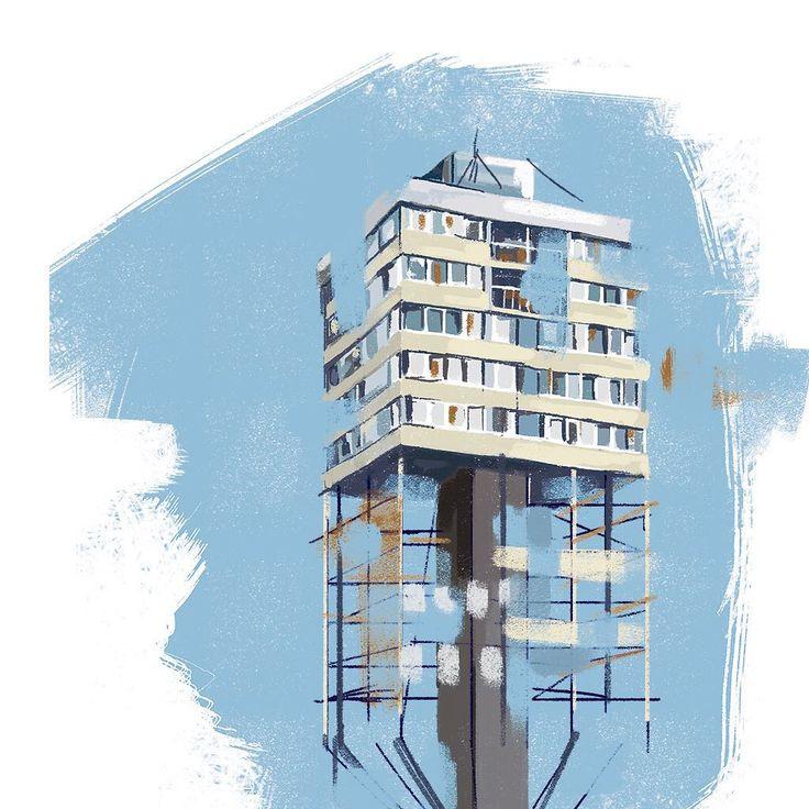 2/3 Architecture of Wroclaw. Trzonolinowiec. #trzonolinowiec #wroclaw #architecture #wroclawart #drawing #digitaldrawing #architectureinpoland #illustration #architectureillustration #art #dagmarajagodzinska #glitch #illustration #イラスタ #絵 #建物 #sky #girlswhoillustrate #womanwhodraw #illustrator #rzeczowki #blogger #love