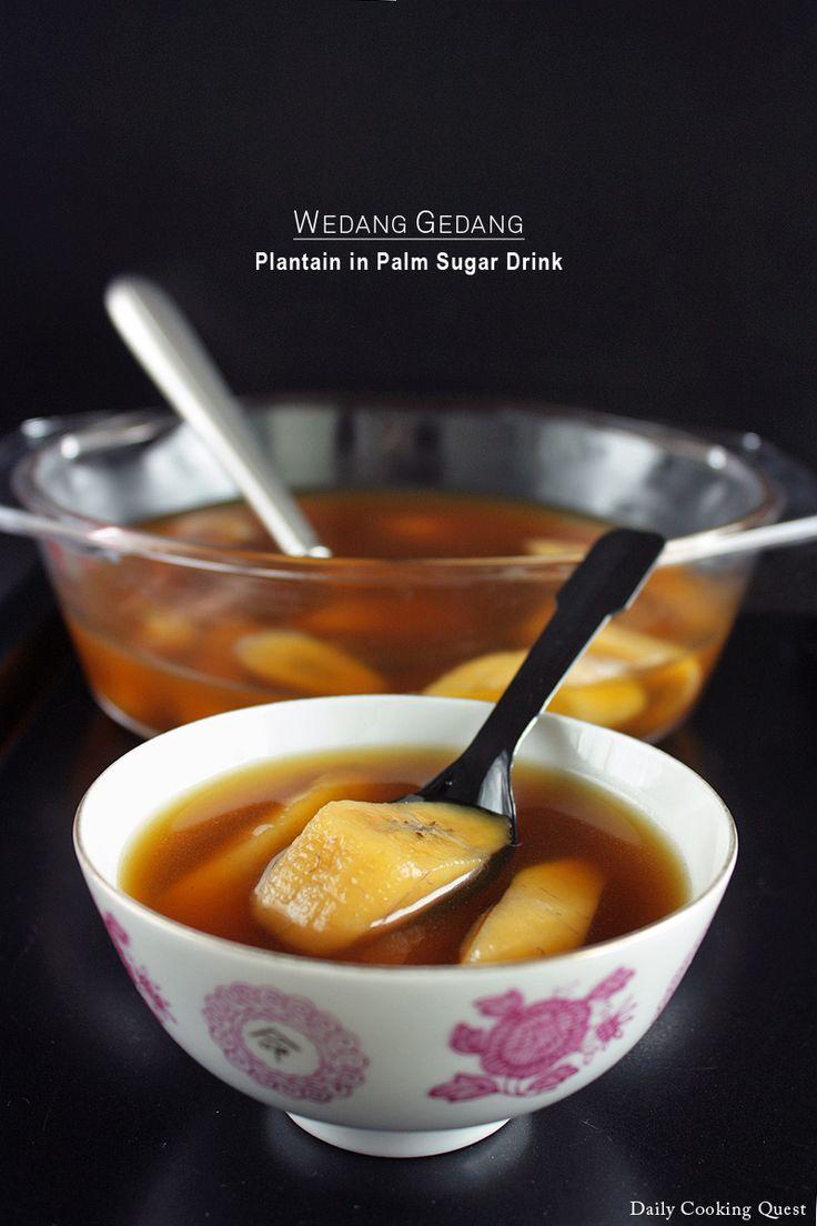 Wedang Gedang – Plantain in Palm Sugar Drink