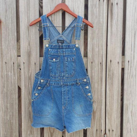 Denim Overalls Shorts  Jean Overalls Shorts by TomieHarleneVintage, $20.99