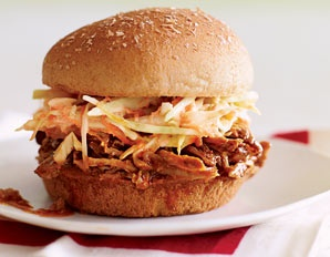 Pulled pork. It's pork. It's pulled. And it's an alliteration. Good things come in threes.