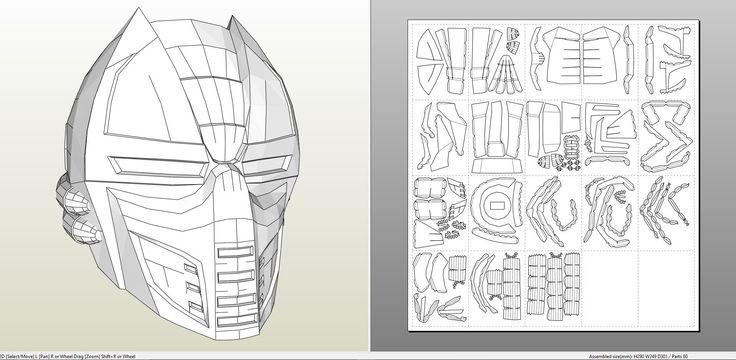 cyclops mask template - 261 melhores imagens de pepakura pdo files no pinterest