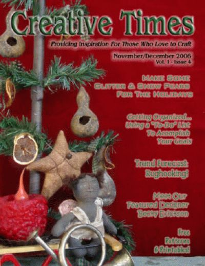 Free Creative Times Magazine with articles, DIY craft tutorials and free patterns. Christmas issue.
