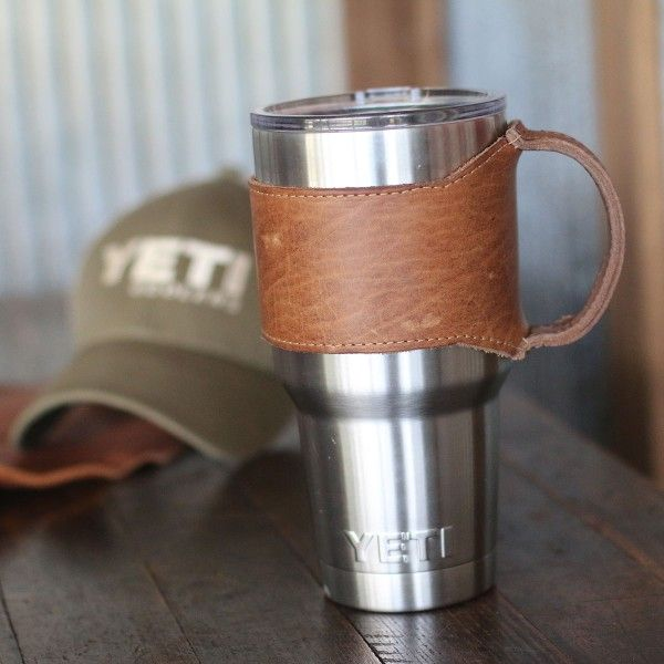 The Rocket City Yeti Personalized Leather Drink Cooler Wrap with ...
